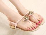 2014新品时尚欧美平跟水钻鞋女鞋沙滩鞋凉鞋波西米亚鞋 宇777