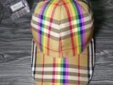 广东奢侈品帽子工厂 Burberry博柏利巴宝莉格子棒球帽