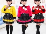 韩版冬款儿童连衣裙套装两件套 女童冬款毛衣连衣裙潮一件代发