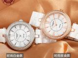 夏季新款超薄时尚陶瓷手表白色女表潮流镶钻正品防水韩版石英表