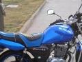 出蓝色豪爵125跨骑越爽摩托车