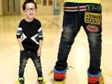 2014韩版童装牛仔裤 中大童男童加绒牛仔童裤 儿童牛仔裤批发