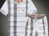 2014 精品男士新款休闲 翻领T恤套装