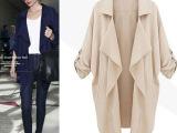 新款女装大码外套欧洲站修身显瘦宽松休闲中长款纯色五分袖风衣