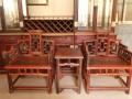 老挝大红酸枝独板圈椅