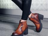 2014秋冬马丁靴 高跟防水台短靴女 新款真皮女靴欧洲站 代理