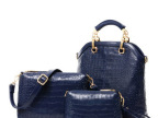 2014夏新款 玫瑰石子母包三件套潮流女包单肩大包斜挎手提包