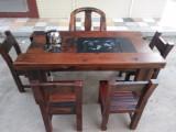 老船木家具 炮筒茶桌 船尾螺旋桨 免漆效果