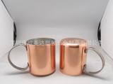 单层卷边/双层镀铜杯不锈钢镀铜铝氧化铜杯纯铜杯