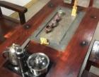 老船木茶桌及五把茶椅,长条凳更衣橱接待前台,九九新