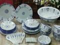 仿古山庄餐饮碗具家庭八人餐盘碗