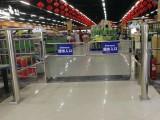 單向擺閘超市感應門圓柱智能紅外感應門超市防盜感應擺閘
