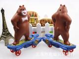 儿童创意熊出没滑板车10元以下批发地摊货源热卖小玩具