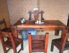 老船木茶桌实木功夫中式茶几茶台泡茶桌复古船木茶桌椅组合特价
