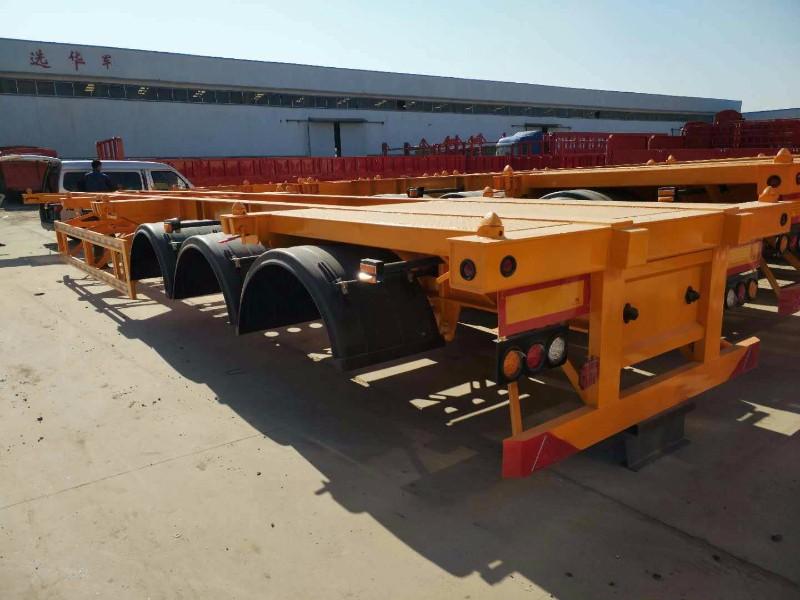 昆明40英尺  48英尺集装箱骨架半挂车专卖货车厂家