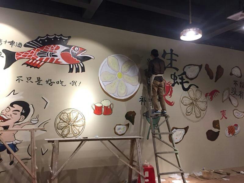 南宁墙体壁画,绘画及浮雕,专业画画,