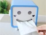 5314可爱卡通方形笑脸 卷纸纸巾抽 家用纸巾盒抽纸盒厂家批发2