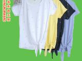 清仓春夏季FILA衫斐乐外贸原单波点女式休闲短袖衫 吸汗速干抗U