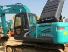 二手神钢挖掘机出售:SK200、260、350二手挖掘机价格