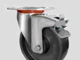 刹车轮供应4寸至8寸平板刹车欧款轮