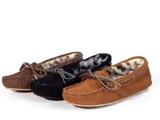 新款2013正品唐卡豹纹平底毛毛单鞋迷你保暖磨砂真皮女雪地棉靴子