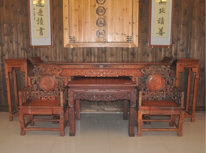 常德市收红木家具 交趾黄檀二手沙发老红木整套家具收购