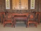 厦门市 上门回收二手红木家具大红酸枝雕花老红木高价收购