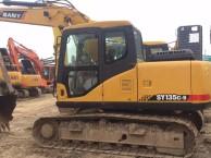 重庆挖机市场,转让二手三一135和215挖掘机,原版土方挖机