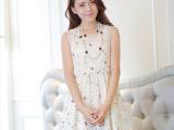 蕾丝雪纺碎花蕾丝连衣裙2014夏季新款女装 裙子夏季 韩版阿里巴