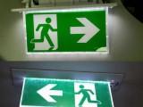 澳洲新西兰专用防水应急灯安全出路灯疏散指示灯SAA证书