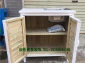 防腐木储物柜卧室储物衣柜不锈钢台盆炭化木工具收纳柜