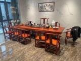 黄石异形大板 定制茶台实木茶桌大板