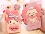 kitty小红帽美乐蒂iPhone5s苹果4/4S小白兔硅胶软套