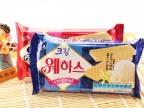 韩国原装进口 海太草莓/奶油威化夹心饼干 休闲零食品 56g*40
