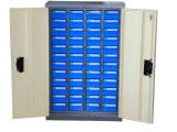 昆山蓝色抽屉零件柜 48抽带门资料柜 天钢CBH-448D-1零