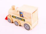 木制小火车玩具 儿童益智积木玩具 拼装自己绘图 智力玩具
