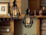 创意设计师的灯饰Loft美式乡村工业风餐厅酒吧复古铁艺小铁笼吊灯