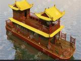 新世纪厂家定制大型画舫船观光游玩画舫电动船游玩船仿古木船