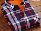 秋冬季保暖衬衫男士加绒加厚商务男装中年男士长袖保暖衬衣批发