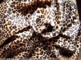短毛绒布印花剪毛絨布料 动物纹豹纹虎纹布料玩具服装面料