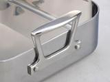 加厚三层不锈钢方盘 托盘 长方托盘 浅餐