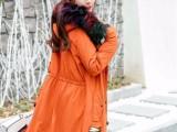 2017当季新款羽绒服大毛领长款品牌女装批发货源