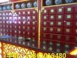 杭州药店高档展示柜制作,实木中药柜定做,