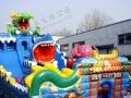 大型充气城堡蹦蹦床海洋球沙滩池儿童玩具广场庙会创业好机会