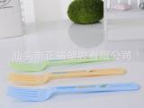 塑料水果叉 食品级PE塑料叉子 广告赠品