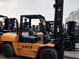 二手10吨杭州叉车出售,杭州R100二手叉车,液压调距