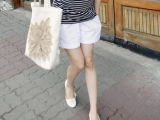 孕妇装 时尚韩版 夏装 百搭开叉休闲 托腹裤 孕妇短裤