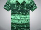 夏装新款男装 男士时尚休闲短袖polo衫T恤 翻领打底衫 印花t