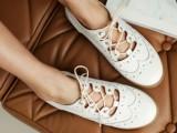 2014新款雕花韩国代购同款单鞋黑色白色绑带圆头英伦风真皮女鞋子