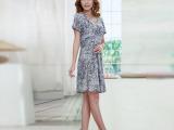 厂家直销2014春季新款冰丝裙 时尚百搭印花冰丝裙 批发供应冰丝